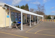 Langstone Primary School - Wall Mounted Canopy