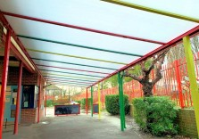 Clore Tikva School - Wall Mounted Canopy