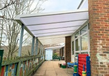 Harlands Primary School - Wall Mounted Canopy