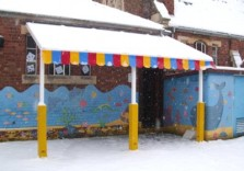 Harbury Pre-School - Wall Mounted Canopy
