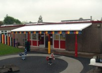 Kirkhamgate Pre-School - Wall Mounted Canopy