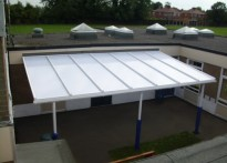 Tickhill St Mary's CE Primary School - Wall Mounted Canopy