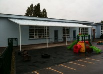 West Road Primary School - Wall Mounted Canopy