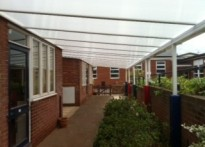 Morland Primary School - Wall Mounted Canopy