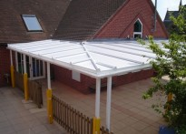 St Gregory CEVC Primary School - Wall Mounted Canopy