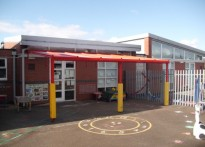 Mendell Primary School - Wall Mounted Canopy