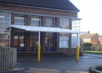 Tudor C of E VC Primary School - Wall Mounted Canopy