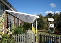 Tudor C of E VC Primary School - 2nd Wall Mounted Canopy