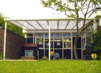 St Nicholas C of E Infant School - Wall Mounted Canopy - 1st Installation