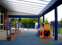New Ferry Children's Centre - Wall Mounted Canopy