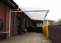 Whitecote Primary School - Wall Mounted Canopy