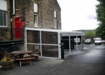 Lees Primary School - Wall Mounted Canopy