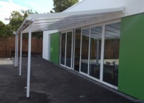 Liberty Primary School - Wall Mounted Canopy