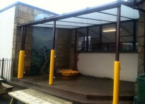 Minera Aided Primary School - Wall Mounted Canopy
