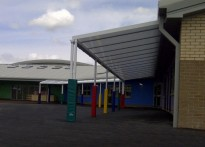 Rhosymedre Community Primary School - Wall Mounted Canopy