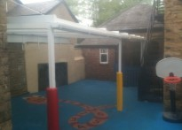 Treetops day Nursery - Wall Mounted Canopy