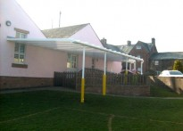 Temple Sowerby School - Wall Mounted Canopy