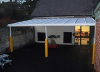 Tanyfron Community Primary School - Wall Mounted Canopy
