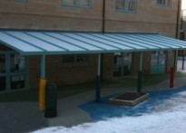 Moldgreen Community Primary School - Wall Mounted Canopy