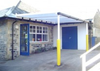 Lothersdale County Primary School - Wall Mounted Canopy