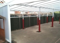 Methodist Junior & Infant School - Wall Mounted Canopy