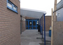 The Rofft School - Wall Mounted Canopy - First Installation