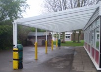 Wray Common Primary School - Wall Mounted Canopy - 2nd Installation
