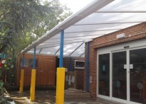 Thomas Wall Nursery School - Wall Mounted Canopy