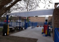 The Rofft School - Wall Mounted Canopy - Second Installation
