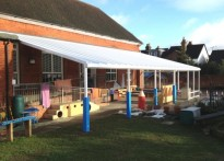 Stoughton Infant School - Wall Mounted Canopy