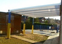 The Rofft School - Wall Mounted Canopy - Third Installation