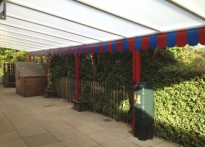 Ickworth Park CE Primary School - Wall Mounted Canopy