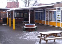Catherine Infant School -  Wall Mounted Canopy