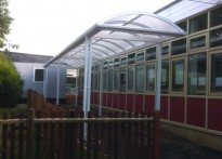 Mayflower High School - Free Standing Walkway Canopy