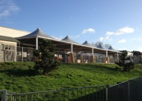 Underhill Infant School - 2nd Free Standing Tensile Fabric Canopy