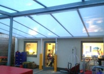 St Quintin Centre for Disabled Children & Young People - Wall Mounted Canopy