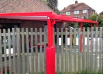 St Leonards CE Primary School - Wall Mounted Canopy