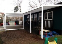 St Meryl Junior & Infant School - 1st Wall Mounted Canopy