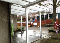 St Meryl Junior & Infant School - Two Wall Mounted Canopies