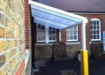 Whybridge Junior School - 3rd Wall Mounted Canopy