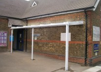 Whybridge Junior School - 1st Wall Mounted Canopy