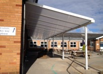 St John's Catholic Primary School - Wall Mounted Canopy