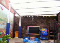Allonby Primary School - Wall Mounted Canopy