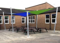 Bothal Middle School - First Shade Sail Array