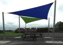 Bothal Middle School - Second Shade Sail Array