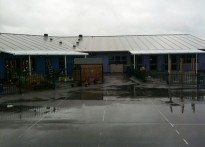 Ysgol ID Hooson School - Wall Mounted Canopy