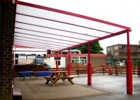 Wickersley St Albans CE Primary School - Wall Mounted Canopy