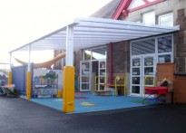 New Park Community Primary School - Wall Mounted Canopy