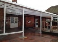Stoughton Infant School - 2nd Wall Mounted Canopy