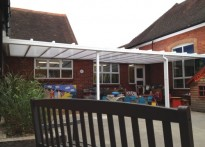 Stoughton Infant School - 3rd Wall Mounted Canopy